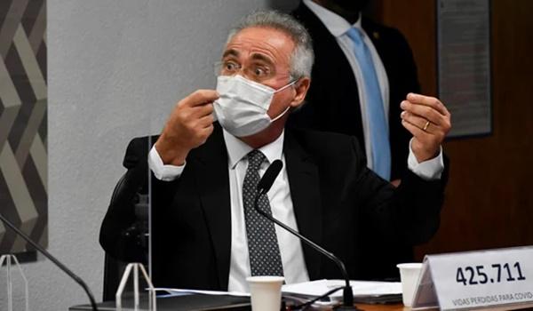"""Calheiros diz que Bolsonaro """"quer o Brasil exposto ao vírus""""."""