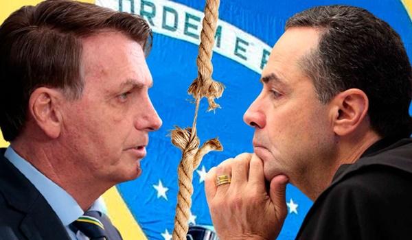 Bolsonaro então comentou uma declaração de Barroso de que o voto impresso não seria adotado caso a questão seja judicializada.